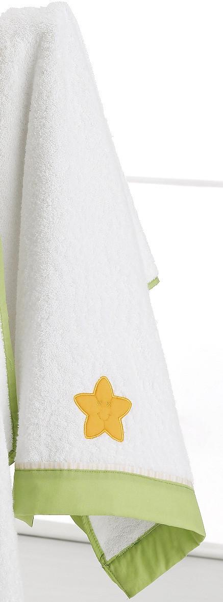 Asciugamano grande Erbesi Lilo & Giò Bianco Verde