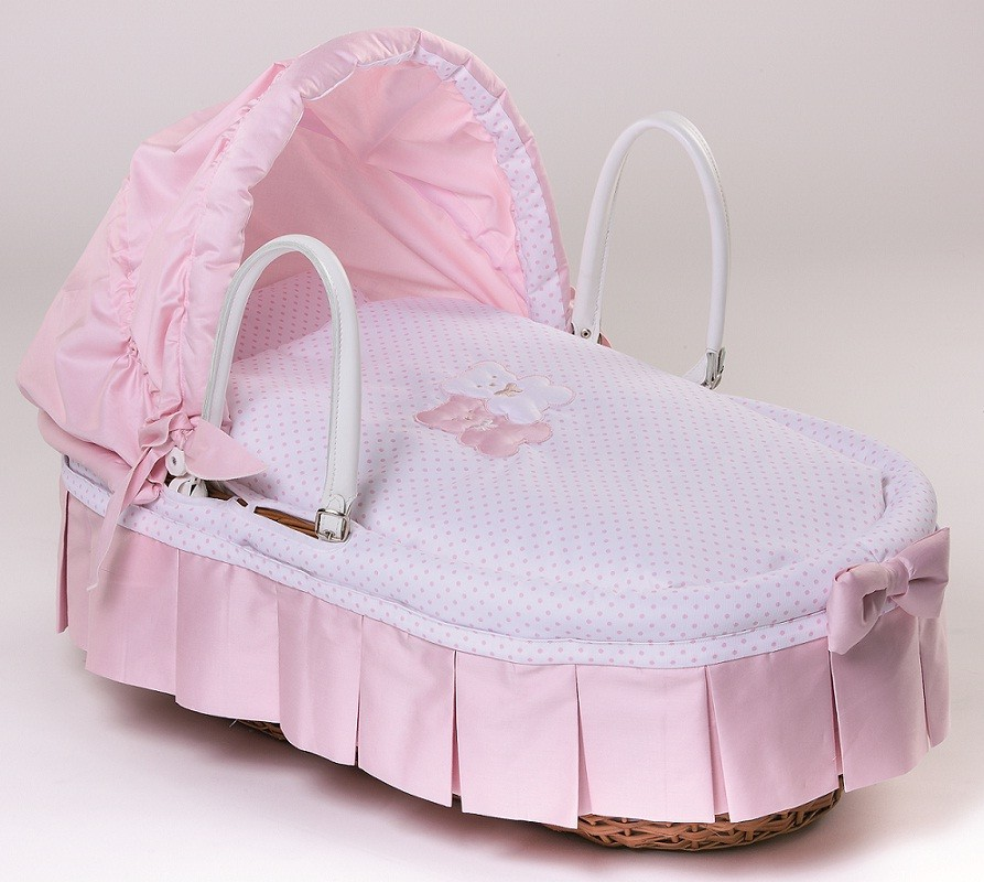 Cesta in giunco coc var 01 picci colore rosa - Cesta porta neonato ...