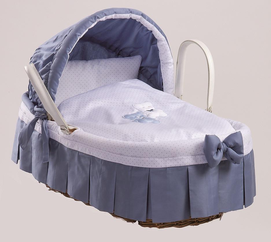 Cesta in giunco coc var 03 picci colore celeste - Cesta porta neonato ...