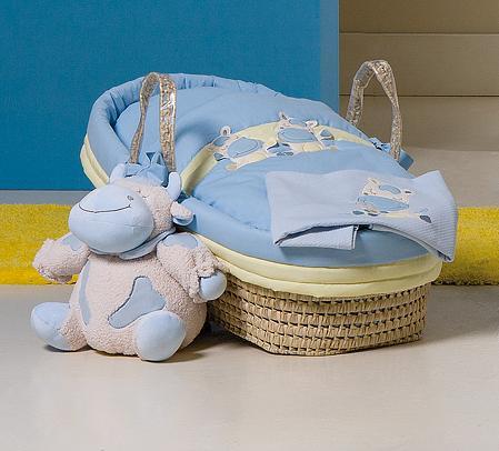Cesta in palma con piumetto lola cod picci - Cesta porta neonato ...