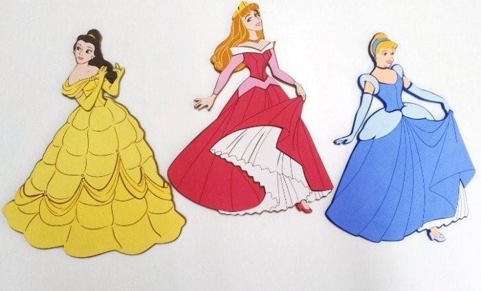 Cameretta Disney Principesse : Decorazioni murali per camerette principesse disney colore