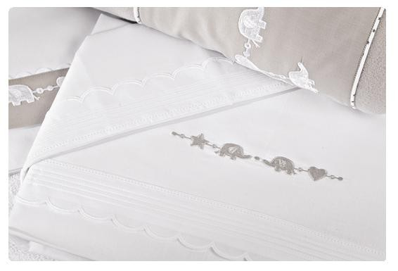 Lenzuola Lettino in cotone Mirò D62S.36 - Dili best - Colore Bianco ...