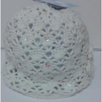 Cappellino Bimba Sterntaler con strass Bianco