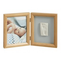Baby Art Simple Print Frame My Baby Touch Cornice Portafoto e Calco Legno Naturale
