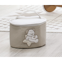 Beauty case tessuto Sweet Star:Beauty case tessuto ItalBaby Sweet Star Bianco In Offerta