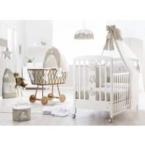 Cameretta Sweet Star: Camerette Complete ItalBaby Sweet Star Bianco Tortora in Offerta