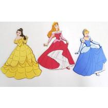 Decorazioni Murali per Camerette Disney Principesse col. Azzurro/Giallo