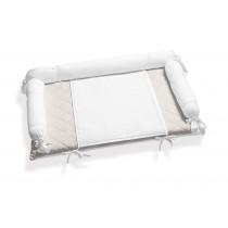 Fasciatoio Tessile ItalBaby Fiocco:Fasciatoio Tessile ItalBaby Fiocco Bianco Grigio In Offerta