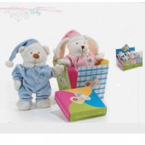 Peluche Plush & Company Orsetti e Coniglietti Mia e Mio cm 25