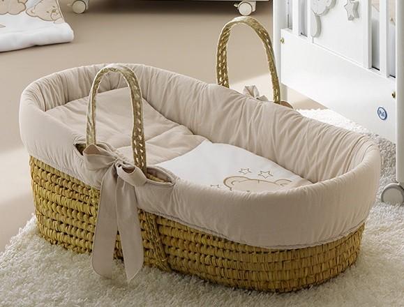 Cesta porta enfant georgia pali colore bianco tortora - Cesta porta neonato ...