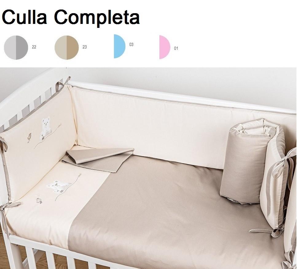 Culla Picci Lella Struttura Bianca completa di Rivestimento Tessile in tutte le Fantasie e Varianti di colore