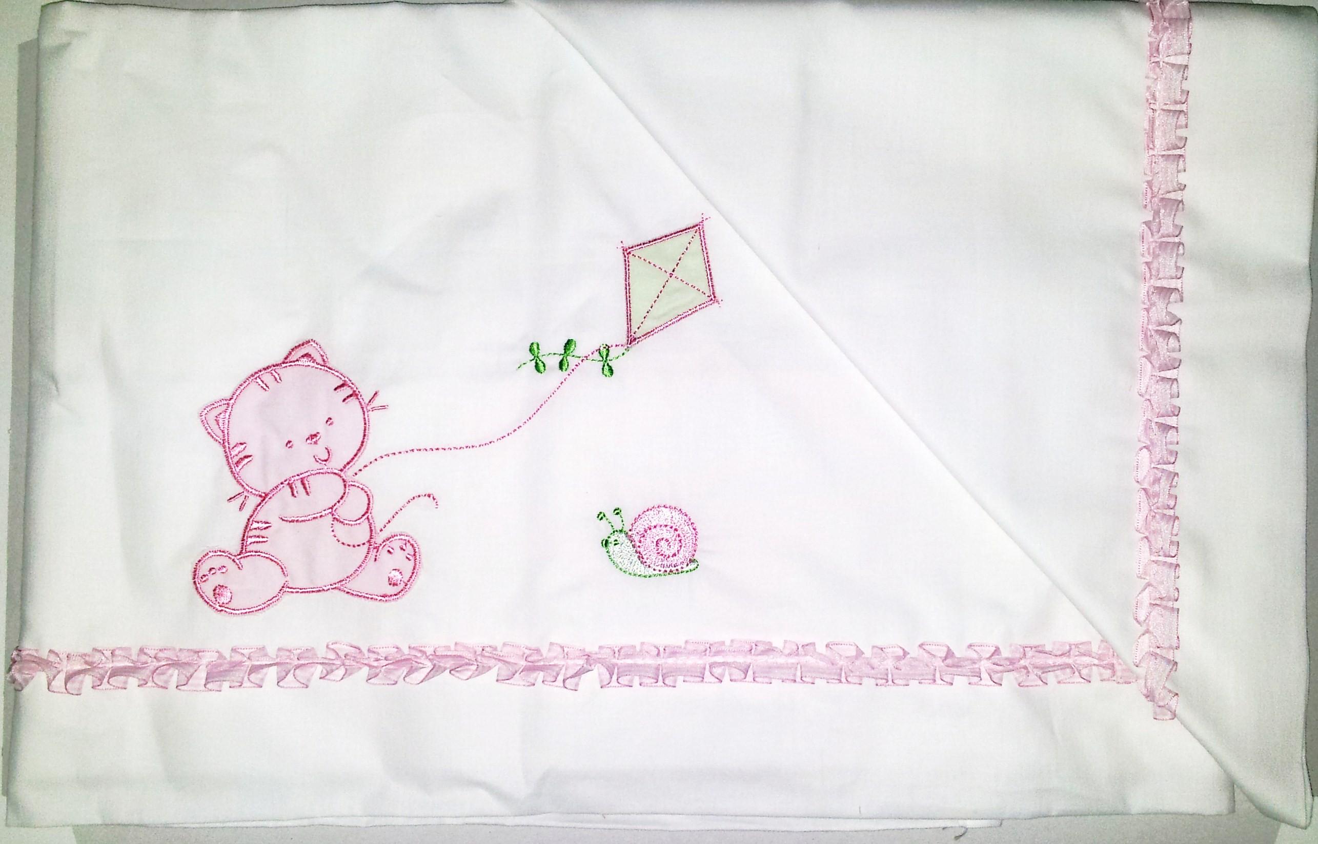 Completo strass 3 pezzi lenzuola per culla carrozzina celeste bimbi