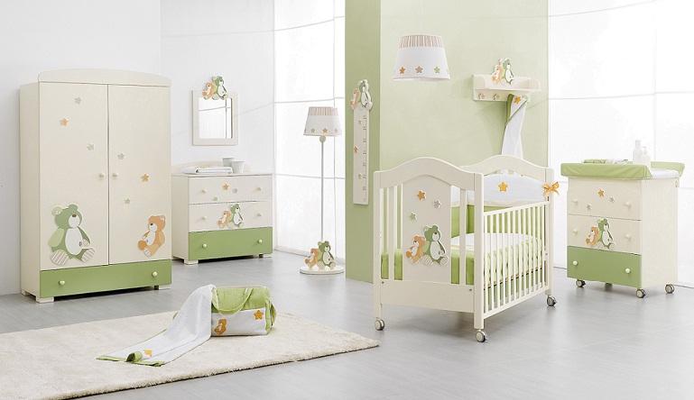 Attaccapanni a muro lilo gi erbesi colore bianco verde camerette complementi d 39 arredo - Colore cameretta neonato ...